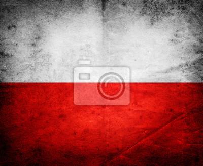 Poland old flag background