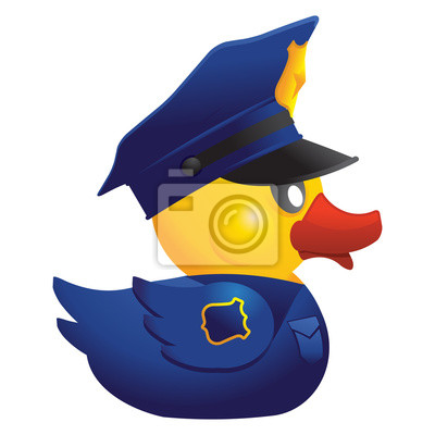 Wall mural Police Officer Rubber Duck