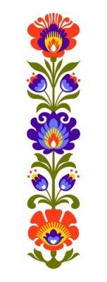 Wall mural Polish folk flowers papercut