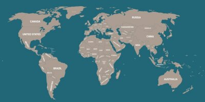 Wall mural Political map of World