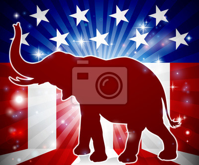 Political Mascot Republican Elephant
