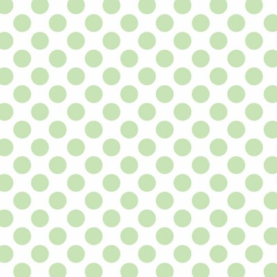 Wall mural Polka dots background with soft green dots and white background