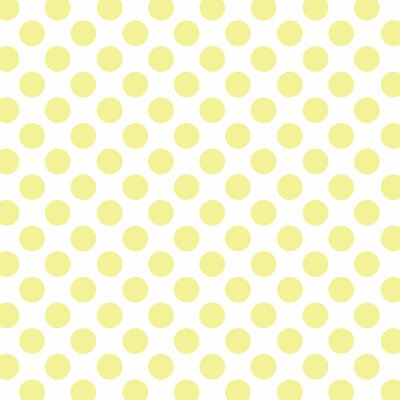 Wall mural Polka dots background with soft yellow dots and white background