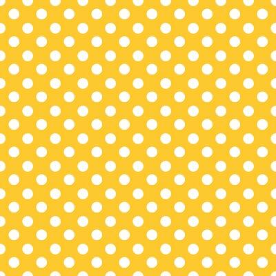 Wall mural Polka dots seamless pattern background.
