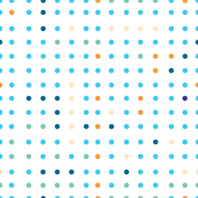 Wall mural Polka dots vector seamless pattern. Dots of different colors.