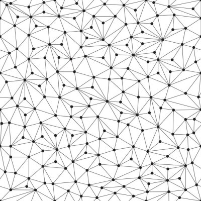 Wall mural Polygonal background, seamless pattern, lines and circles