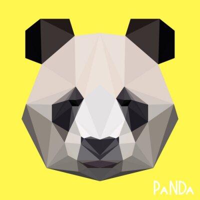 Wall mural Polygonal geometric panda portrait