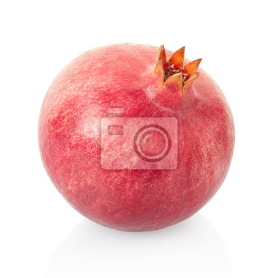Wall mural Pomegranate fruit on white, clipping path included
