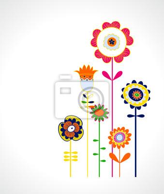 popart floral background