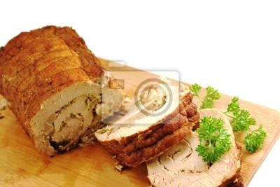 Pork roulade filled