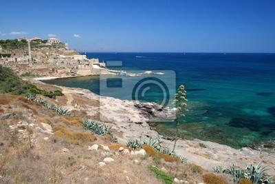 Portopalo landscape of the cliff