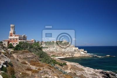 Portopalo - Landscape with castle and old tuna