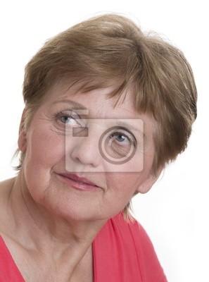 portrait of a senior woman close up