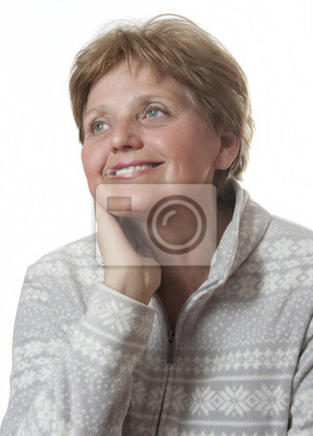 portrait of happy senior woman - sixty years old