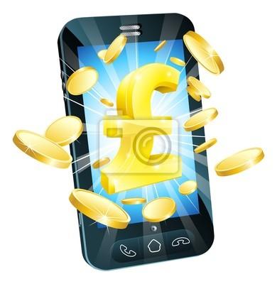 Pound money phone concept