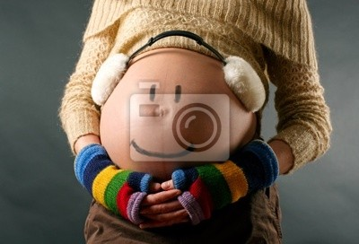 Wall mural Pregnant woman