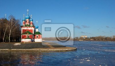 """Prince Dmitry church """"on blood"""" on  banks of  Volga in Uglich"""