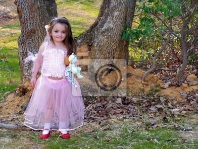 princess girl with bears