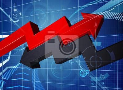 Profit Loss Business Arrow Graph Background