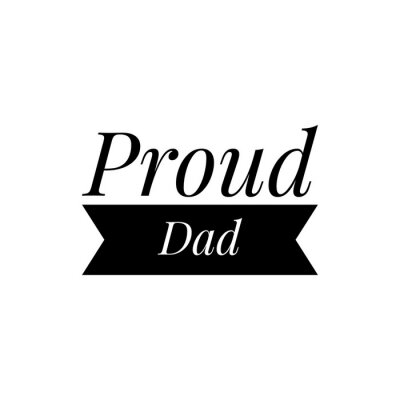 Wall mural ''Proud dad'' Lettering