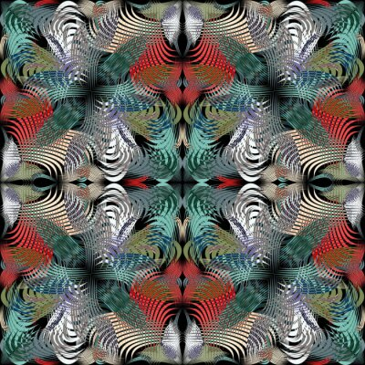 psychedelic abstract geometric colored background quality illustration for your design