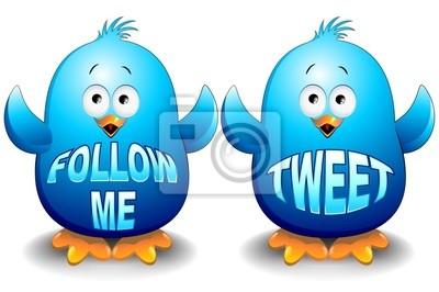 Pulcini Uccelli Blu Cartoon-Blue Birds Chicks-Vector