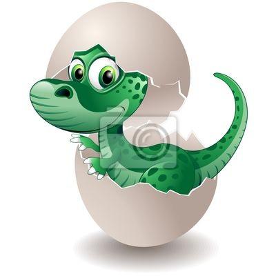 Puppy in Dinosaur Egg -Baby Dinosaur Egg On His -Vector