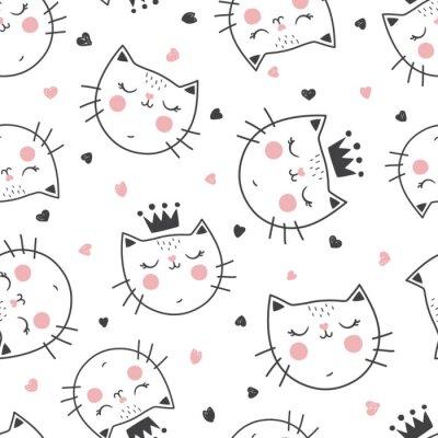 Wall mural queen cat pattern