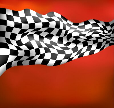 Wall mural racing background checkered flag wawing