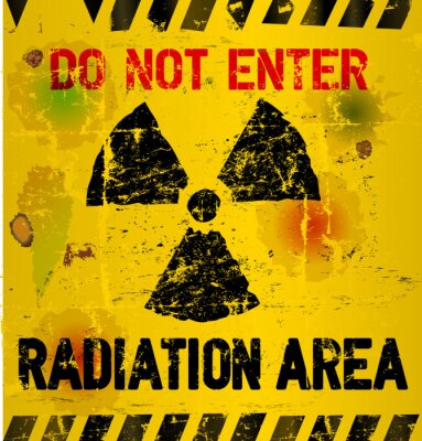 Wall mural Radiation area warning, vector illustration