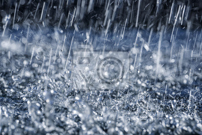 rain close up in detail
