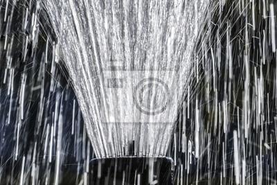 rain water drops close up in detail - fountain