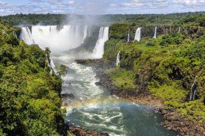 Wall mural Rainbow at Devil's Throat at Iguazu Falls,  Brazil