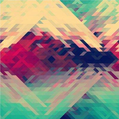 Wall mural Rainbow colors triangular vector pattern