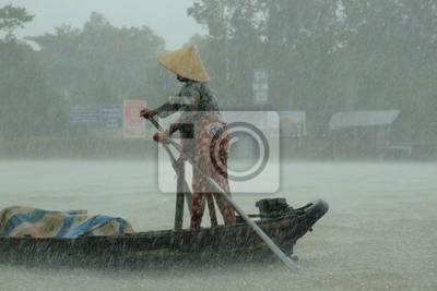Rainy season the Mekong, Vietnam