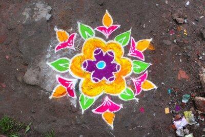 Wall mural Rangoli / Munnar (Kerala / Inde
