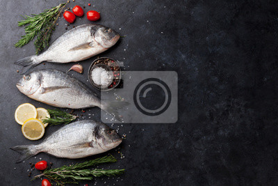 Wall mural Raw dorado fish