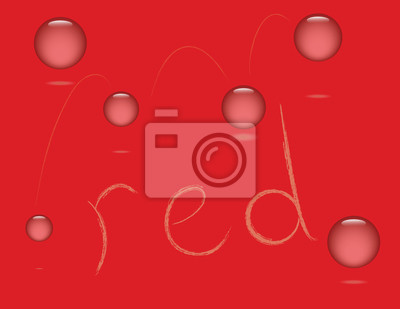 Wall mural red