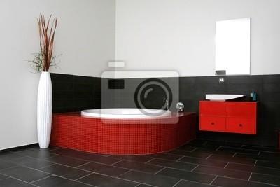Red bathroom, Japanese style room