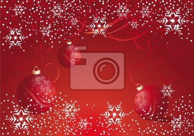 red bauble and snowflake