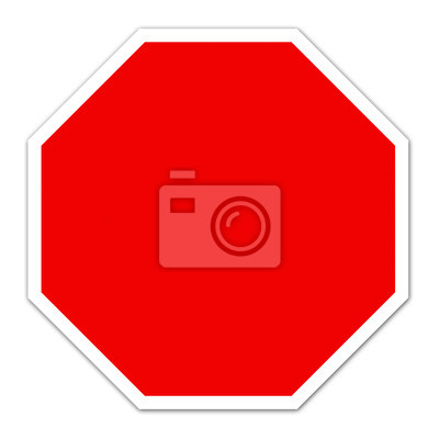 red blank sign