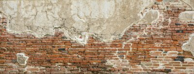 Wall mural Red brick wall texture background,brick wall texture for for interior or exterior design backdrop,vintage tone.