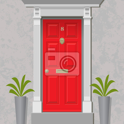 Wall mural red by