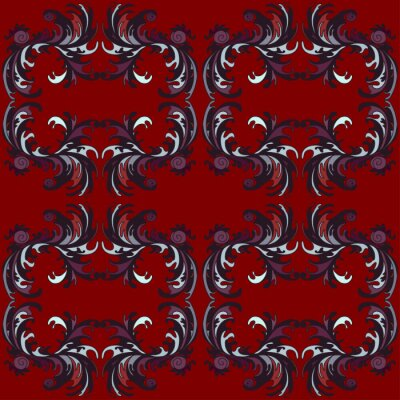 Wall mural red classic pattern