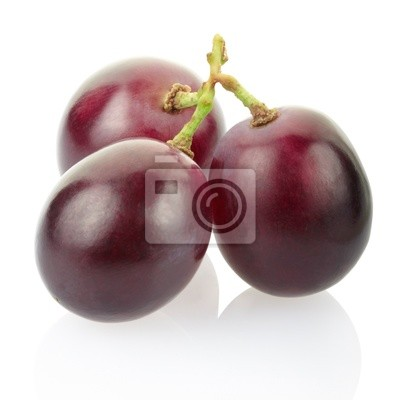 Wall mural Red grape isolated, clipping path included