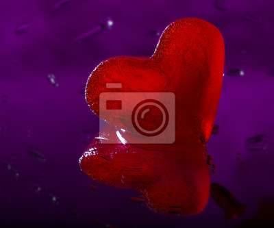 red heart of ice in detail