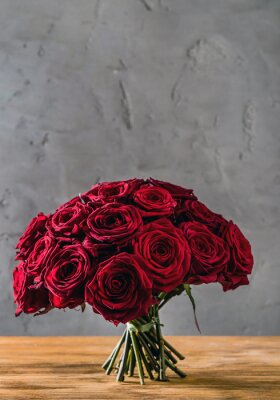 Wall mural red roses