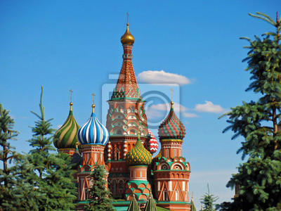 Red Square Moscow St Saint Basil Cathedral Kremlin Russia Moskva.