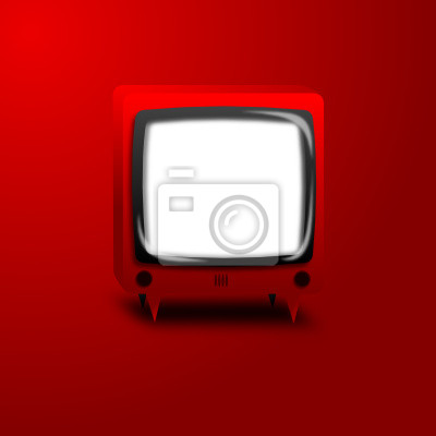 Wall mural red TV