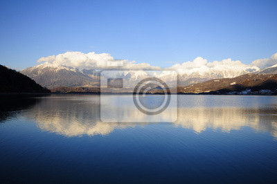 Reflected mountains